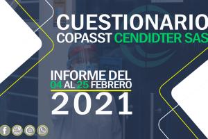 Informe cuestionario COPASST del 04 al 25 de Febrero