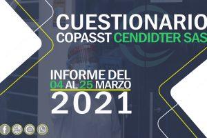 Informe cuestionario COPASST 04 – 25 de Marzo del 2021